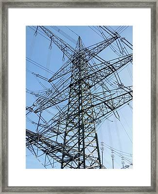 Power Lines Framed Print
