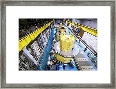 Power Station Hydro Turbines Framed Print by Gustoimages