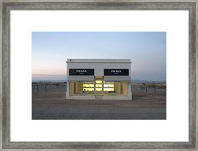 Prada Marfa Framed Print by Greg Larson