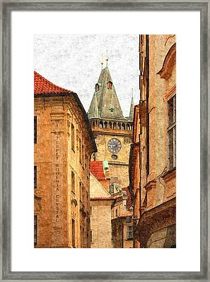 Prague - Old Town Framed Print by Ludek Sagi Lukac