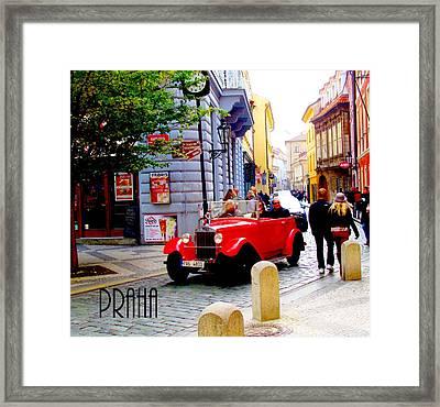 Prague Street Scene Framed Print
