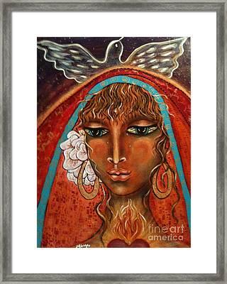 Pray For Peace Framed Print by Maya Telford