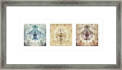 Prayer Flag Triptych Framed Print