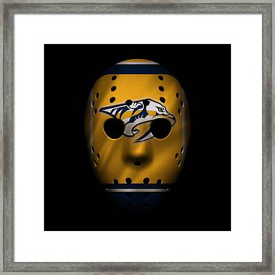 Predators Jersey Mask Framed Print by Joe Hamilton