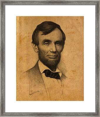 President Abraham Lincoln Framed Print
