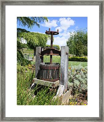 Make Grapes Whine Framed Print by Patrick Witz