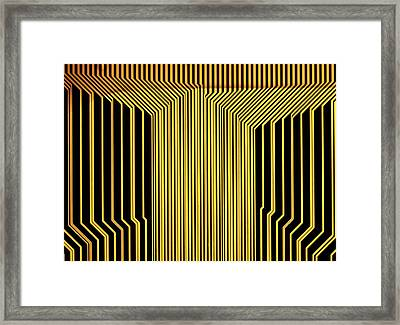 Printed Circuit Framed Print