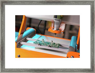 Printed Circuit Board Processing Framed Print