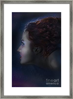 Profile Of Witch Framed Print by Aleksey Tugolukov