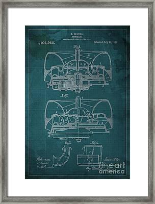Propeller Patent 1914 Blueprint Framed Print