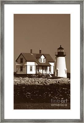Prospect Harbor Lighthouse Framed Print by Skip Willits