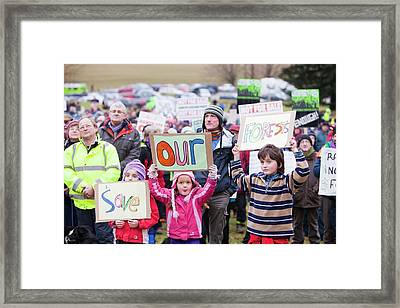 Protest Against Public Forest Selloff Framed Print
