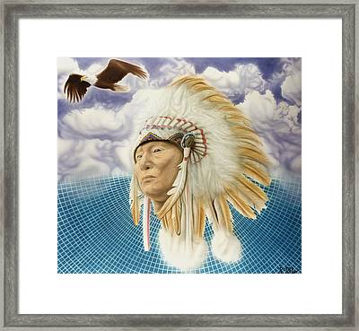 Proud As An Eagle Framed Print by Rich Milo
