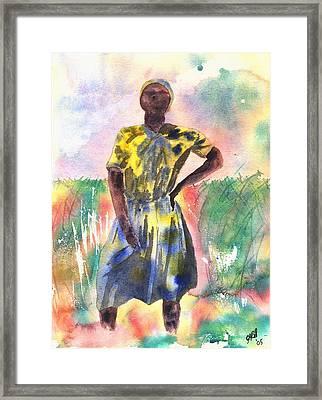 Proud Lady Framed Print by Joyce Ann Burton-Sousa