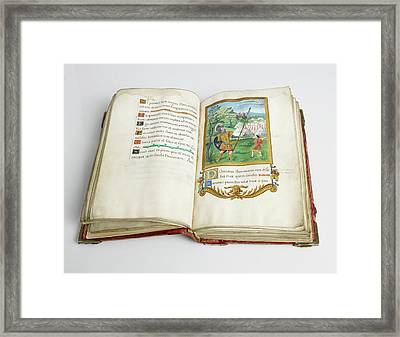 Psalter Of Henry Viii Framed Print by British Library