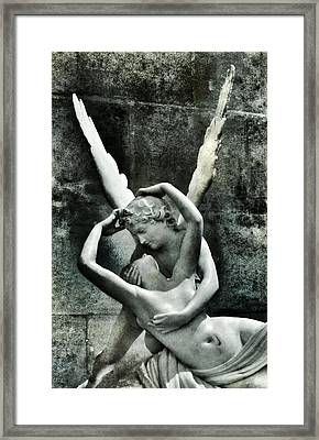 Psyche Revived By Cupid's Kiss Framed Print by Marianna Mills