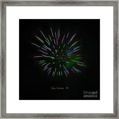 Psychedelic Fireworks Framed Print