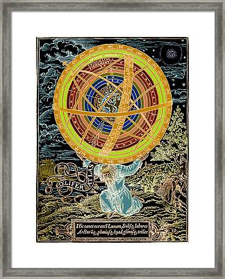Ptolemaic System, Geocentric Model, 1531 Framed Print by Science Source