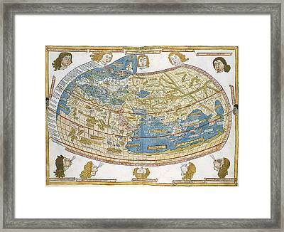 Ptolemic World Map Framed Print by British Library