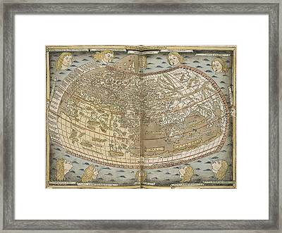 Ptolemy's World Map Framed Print by British Library