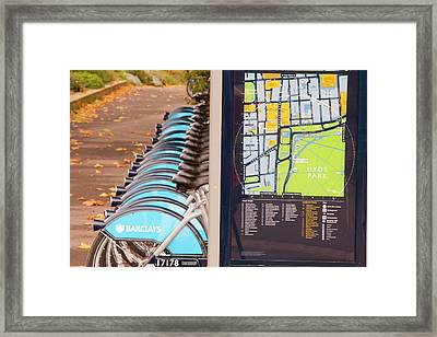 Public Bike Hire Scheme Framed Print