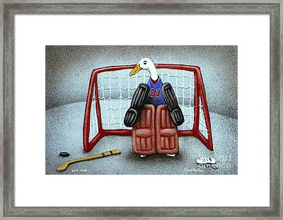 puck duck... by Will Bullas Framed Print by Will Bullas