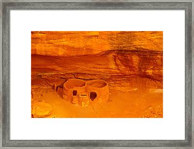 Pueblo Indian Ruins  Framed Print