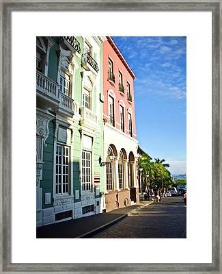 Puerto Rico, Old San Juan, Street Framed Print
