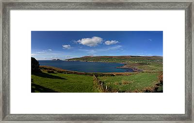 Puffin Island From The Skelligs Ring Framed Print by Panoramic Images