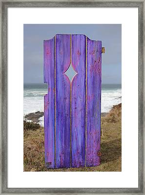 Purple Gateway To The Sea Framed Print