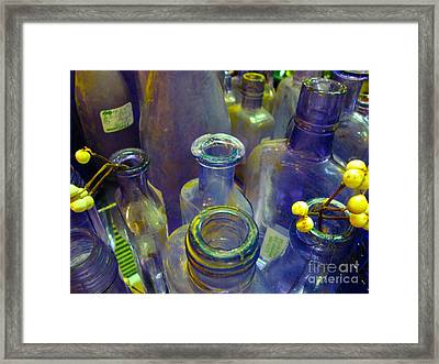 Purple Glaze Framed Print by Cathy Dee Janes
