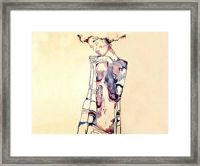 Purple Lady Framed Print