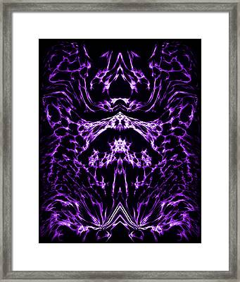 Purple Series 1 Framed Print by J D Owen