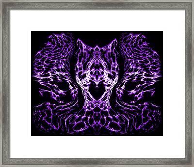 Purple Series 4 Framed Print by J D Owen