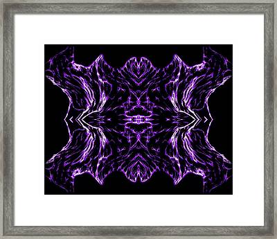 Purple Series 7 Framed Print by J D Owen