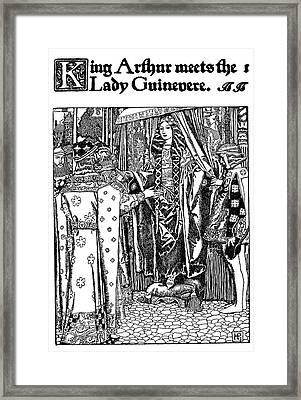 Pyle King Arthur Framed Print by Granger