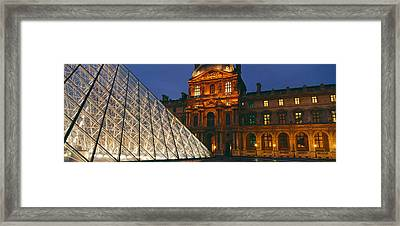 Pyramid At A Museum, Louvre Pyramid Framed Print