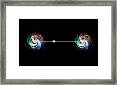 Quantum Entanglement Framed Print