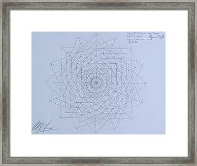 Quantum Foam Framed Print by Jason Padgett