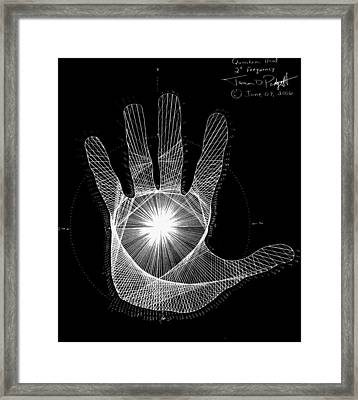 Quantum Hand Through My Eyes Framed Print by Jason Padgett