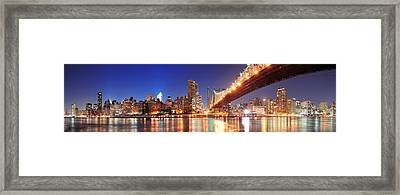 Queensboro Bridge And Manhattan Framed Print