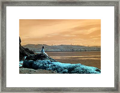 Framed Print featuring the photograph Quiet Beach by Rebecca Parker