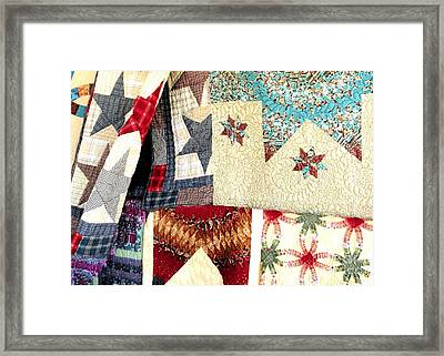 Framed Print featuring the photograph Quilts For Sale by Janette Boyd