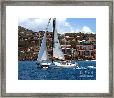 Racing At St. Thomas 1 Framed Print