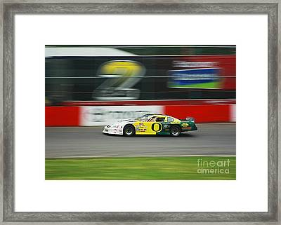Racing Oregon Ducks Nascar Framed Print by Tyra  OBryant
