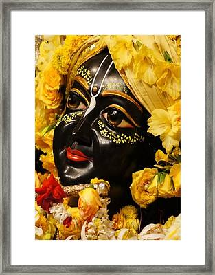 Radha Krishna Idol Hinduism Religion Religious Spiritual Yoga Meditation Deco Navinjoshi  Rights Man Framed Print