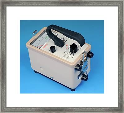 Radiation Air Monitor Framed Print by Public Health England