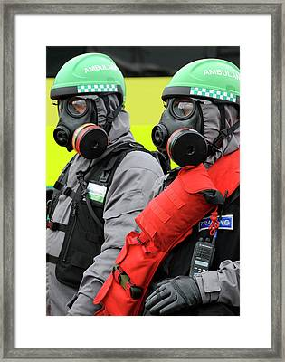 Radiation Emergency Response Workers Framed Print