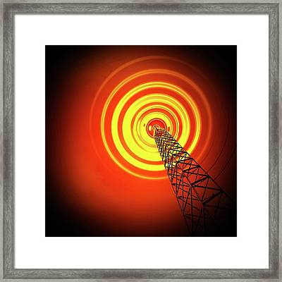 Radio Communications Tower Framed Print