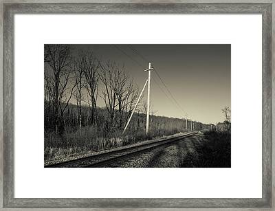 Railroad Track Passing Framed Print by Panoramic Images